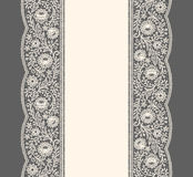 Lace Ribbon. Vertical Seamless Pattern. Royalty Free Stock Photo