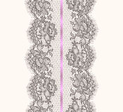 Lace Ribbon Vertical Seamless Pattern. Royalty Free Stock Images