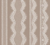 Lace Ribbons Seamless Pattern. Royalty Free Stock Photography