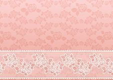 Lace Rose. Floral background with a picture of lace Stock Photos