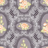 Lace and Roses. Seamless Pattern. Stock Photography