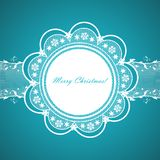 Lace round frame Royalty Free Stock Photo