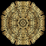 Lace round gold ornament Stock Image