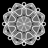Lace round paper doily, doily to decorate the cake, doily under the plates, festive doily,  white doily Stock Images