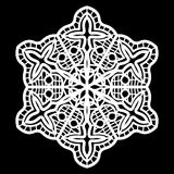 Lace round paper doily, doily to decorate the cake, doily under the plates, festive doily,  white doily, lacy snowflake Royalty Free Stock Photo