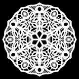 Lace round paper doily, doily to decorate the cake, doily under the plates, festive doily,  white doily, lacy snowflake Royalty Free Stock Images