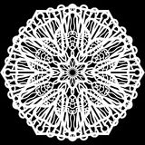 Lace round paper doily, doily to decorate the cake, doily under the plates, festive doily,  white doily, lacy snowflake Stock Images