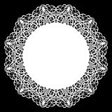 Lace round paper doily, lacy snowflake, greeting element, laser cut  template, doily to decorate the cake, Royalty Free Stock Images