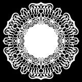 Lace round paper doily, lacy snowflake, greeting element, laser cut template, doily to decorate the cake,. Vector illustrations stock illustration
