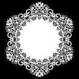 Lace round paper doily, lacy snowflake, greeting element, laser cut  template, doily to decorate the cake, Stock Photos