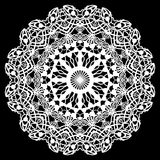 Lace round paper doily, lacy snowflake, greeting element, laser cut template, doily to decorate the cake,. Vector illustrations vector illustration