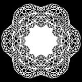 Lace round paper doily, lacy snowflake, greeting element,  Stock Image