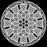 Lace round paper doily, lacy snowflake, greeting element package Royalty Free Stock Photos