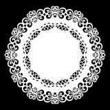 Lace round paper doily, lacy snowflake, greeting element,  template for cutting  plotter, laser cut  template, doily to decorate t. He cake,  vector Stock Photography