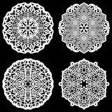 Lace round paper doily, lacy snowflake, greeting element,  template for cutting  plotter, round pattern, laser cut  template, doil Royalty Free Stock Photography