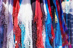 Lace Scarves in Venice Royalty Free Stock Photography