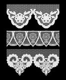 Lace seamless borders. Set of elements for design. Stock Photo