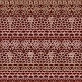 Lace seamless crochet pattern Royalty Free Stock Photo