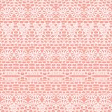 Lace seamless crochet pattern Royalty Free Stock Images