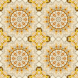 Lace seamless ethnic pattern Royalty Free Stock Images