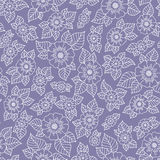 Lace seamless hand drawn  pattern. Royalty Free Stock Photography