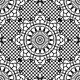 Lace seamless pattern stock illustration