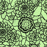 Lace seamless pattern with abstract elements. Vector floral background. Royalty Free Stock Photo