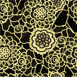 Lace seamless pattern with abstract elements. Vector floral background. Stock Photos
