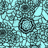 Lace seamless pattern with abstract elements. Vector floral background. Royalty Free Stock Images