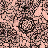 Lace seamless pattern with abstract elements. Vector floral background. Stock Image
