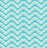 Lace seamless pattern on blue background Royalty Free Stock Photos
