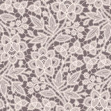 Lace Seamless Pattern. Brown Background. Royalty Free Stock Photography