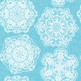 Lace seamless pattern with doilies Royalty Free Stock Image