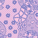 Lace seamless pattern with flowers Royalty Free Stock Images