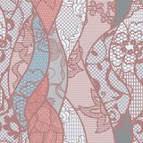 Lace seamless pattern with flowers Royalty Free Stock Image