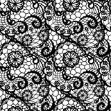 Lace seamless pattern with flowers Royalty Free Stock Photography