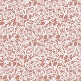 Lace seamless pattern with flowers Stock Image