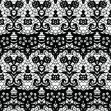 Lace seamless pattern with flowers Royalty Free Stock Photo