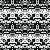 Lace seamless pattern with flowers Stock Images