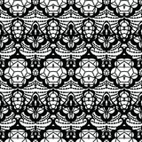 Lace seamless pattern with flowers Stock Photography