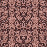 Lace seamless pattern with flowers Royalty Free Stock Photos