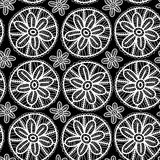 Lace seamless pattern with flowers and leaves. Royalty Free Stock Image