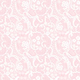 Lace seamless pattern with flowers Stock Photo