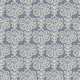 Lace seamless pattern with flowers. Stock Photo