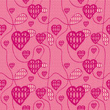 Lace seamless pattern with hearts Royalty Free Stock Photography