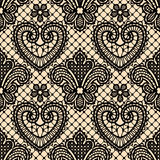 Lace Seamless Pattern. Lace Vector Background. Black Lace. Lace Vector Background. Seamless Pattern stock illustration