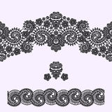 Lace Seamless Pattern. Lace Vector Background. Black Lace Ribbon. Lace Vector Background. Seamless Pattern vector illustration