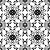 Lace seamless pattern, monochrom colors elegant print Stock Images