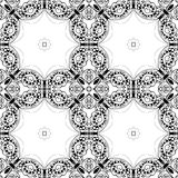 Lace seamless pattern, monochrom colors elegant print Royalty Free Stock Photos