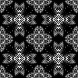 Lace seamless pattern, monochrom colors elegant print Royalty Free Stock Images
